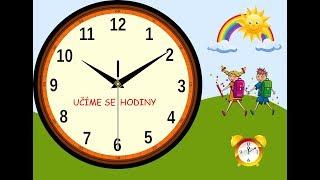 Poznáváme hodiny - učíme se poznat čas na ručičkových hodinách - pro děti