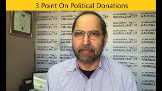 3 points about Political Donations