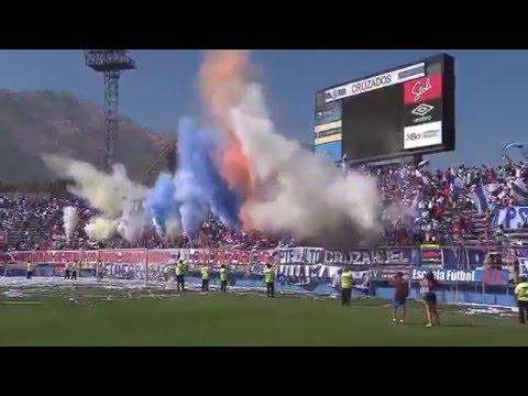 """""""ESPECIAL Jugadores Cruzados en Banderazo UC - CC CLAUSURA 2015-16"""" Barra: Los Cruzados • Club: Universidad Católica"""