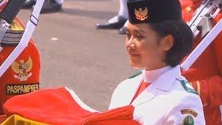 Sosok Tarrisa Maharani Dewi, Paskibra Pembawa Baki Bendera Merah Putih di Istana Merdeka