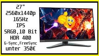 Lenovo G27q-20 Review | Viel Display für wenig Geld
