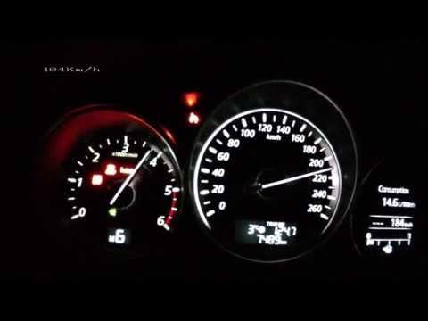 Mazda 6 2013 2,2 SkyActiv-D - acceleration 0-200 km/h + Vmax test