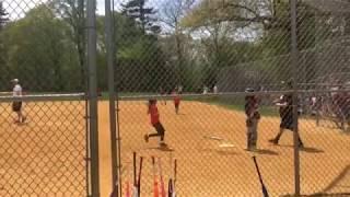 4th grader hits teammate home