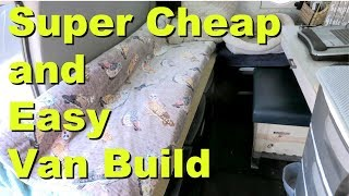 TOUR: Super Cheap and Easy Van Build