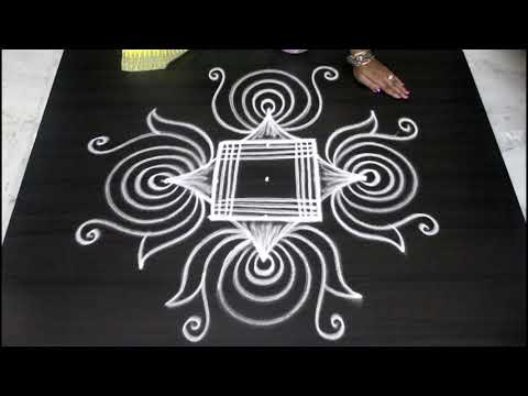 Freehand Unique Rangoli Kolam Designs || Muggulu Designs Without Dots