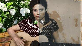 Реставрация фотографий до и после