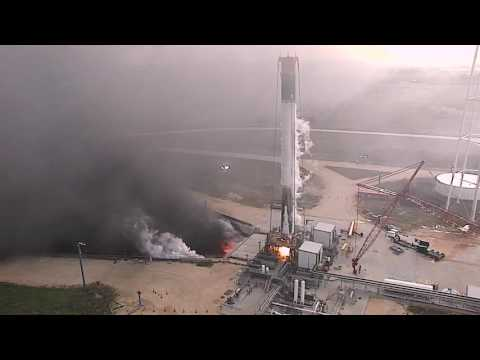 Landed Falcon 9 First Stage Test Firing