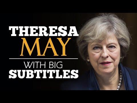 LEARN ENGLISH   THERESA MAY: Britain, the Great Meritocracy (English Subtitles)