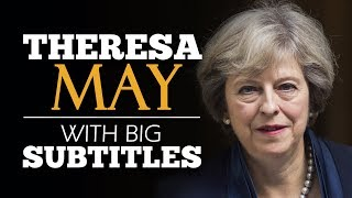LEARN ENGLISH | THERESA MAY: Britain, the Great Meritocracy (English Subtitles)