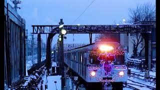 """""""Новогодний Еж3"""" прибывает на станцию """"Выхино"""""""