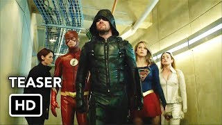 Сериалы CW, DCTV Crisis on Earth-X Crossover Teaser - The Flash, Arrow, Supergirl, DC's Legends of Tomorrow (HD)
