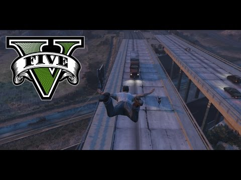 GTA 5 - Funny Butt Landing In To Truck - Perfect Timing