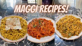 Maggi Recipes   Chilli Garlic, Cheesy Piri Piri & Makhani Maggi 🍝 #CookWithGG