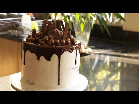 How to make a Birthday cake   Chocolate drip cake   Food with Chetna