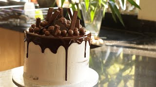 How To Make A Birthday Cake | Chocolate Drip Cake | Food With Chetna