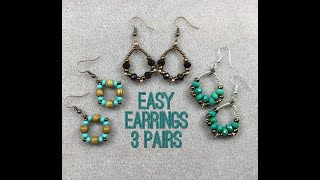 Three Easy Earrings Tutorial