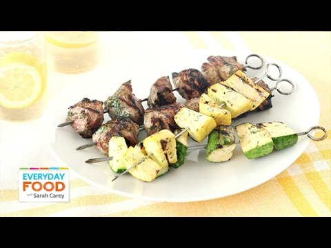 Lamb and Summer Squash Skewers with a Buttermilk Dill Marinade – Everyday Food with Sarah Carey