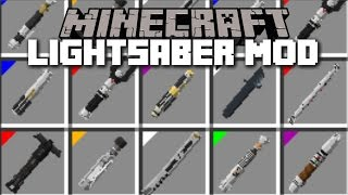 Minecraft STAR WARS LIGHTSABER MOD  GIVING YOUTUBERS THEIR LIGHTSABERS! Minecraft