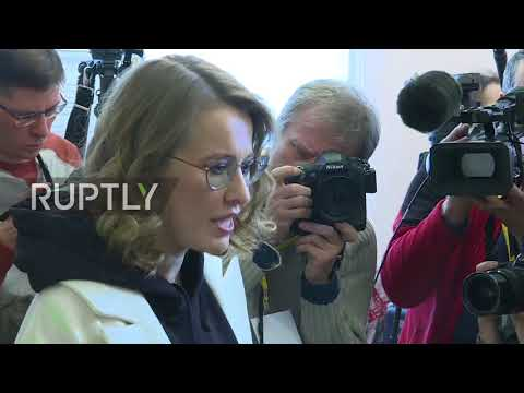 Russia: Ksenia Sobchak casts her vote in presidential elections