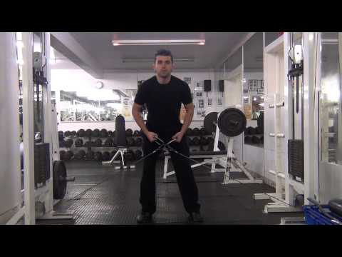 Cable bent over lateral raises