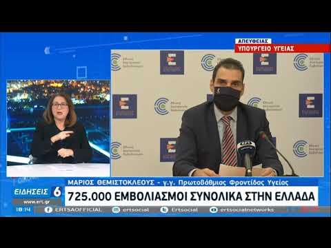 Θεμιστοκλέους: 30.000 εμβολιασμοί σήμερ α- Ξεπέρασαν τους 725.000 οι  ΕΡΤ 22/02/2021
