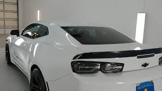 2020 Chevrolet Camaro SS 1LE tinted with Xpel Super Ceramic XR Plus 45% Window Film. 97% IR Rejects