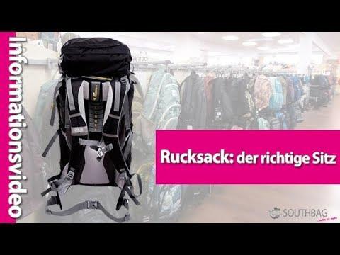 Rucksack: Der richtige Sitz eines Rucksacks