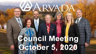 Preview image of Arvada City Council Meeting - October 5, 2020