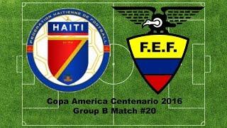 Panini Copa America Centenario 2016 Group B Mach #19 HAITI VS ECUADOR