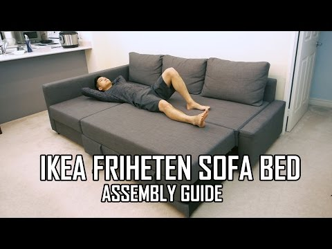 IKEA FRIHETEN Sofa Bed Assembly Guide