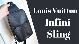 Louis Vuitton Damier Infini Leather Avenue Sling Bag Review, Unboxing, & Try On - Virgil Abloh LV