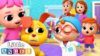 Baby Doctor Check Up   Boo Boo Song   Nursery Rhymes Little Angel