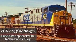 CSX AC44CW No.478 Leads Train into Yeoman Yard