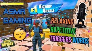ASMR Gaming 😴 Fortnite Best Relaxing Repetitive Trigger Words 🎮🎧 Whispering 💤