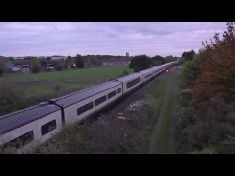 66704 & Eurostar pass through Branston on route to Kingsbury…