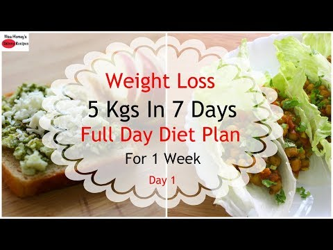 How To Lose Weight Fast 5kgs In 7 Days – Full Day Diet Plan For Weight Loss – Lose Weight Fast-Day 1