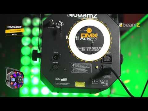 """4 viename """"BeamZ Multi Acis IV"""" šviesos efekto LED su lazeriu ir strypeliu kaina ir informacija   Dekoracijos šventėms   pigu.lt"""