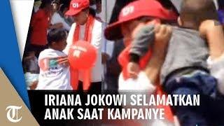 Iriana Jokowi Selamatkan Anak yang Kepanasan saat Kampanye