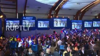France: Le Pen supporters celebrate as she makes it to presidential run-off