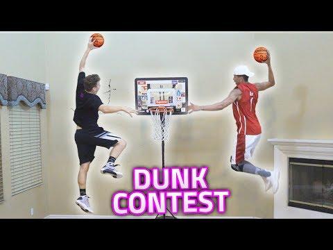 GREATEST HOUSE MINI NBA BASKETBALL DUNK CONTEST EVER!! (INSANE)