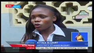 KTN Prime: Complainant Michael Njeru stabs magistrate in a a Nakuru court, 22/11/16