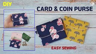 DIY/ CUTE CARD & COIN PURSE/ MINI WALLET/ 귀여운 카드 & 동전지갑 만들기/ 미니 지갑 만들기 / Easy Sewing/ Tutorial