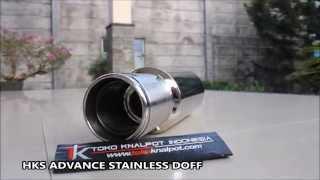 KNALPOT HKS ADVANCED STAINLESS DOFF (KODE : TK 4030-ASD)