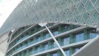 preview picture of video 'Abu Dhabi,Yas Island, UAE,Viceroy-Hotel, Formula 1 Circuit. (HD)'