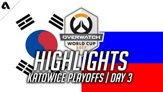 South Korea vs Russia | Overwatch World Cup 2017 Highlights - Playing Like It's Mystery Heroes?