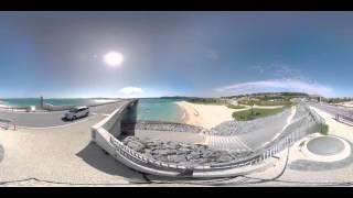 VR動画で沖縄 ツアー『古宇利島大橋から見た古宇利島のビーチ』4K 360°カメラの動画