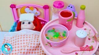 คุณแม่ทำกับข้าว ของเล่นเครื่องครัวทำอาหาร ของเล่นไม้ ของเล่นตุ๊กตา Baby Doll Cooking Toys