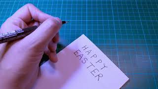 Art for All - Video 5 - Writing the Text Easter Card