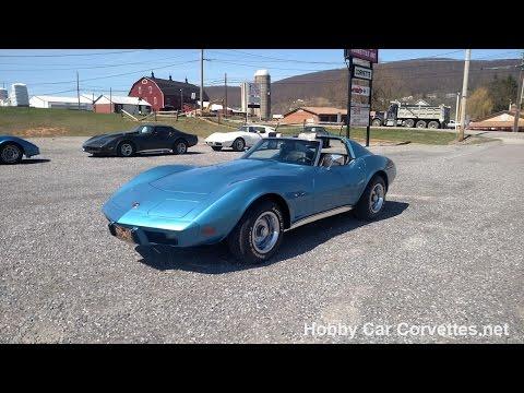 1976 Bright Blue Corvette Stingray Manual For Sale Video