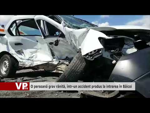 O persoană grav rănită, într-un accident produs la intrarea în Băicoi